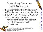 preventing diabetes ace inhibitors