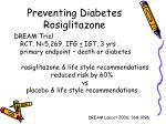 preventing diabetes rosiglitazone