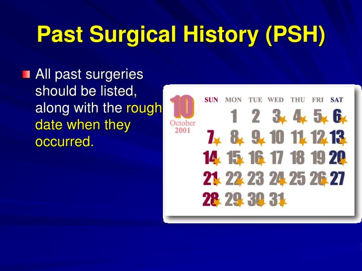 Past Surgical History (PSH)