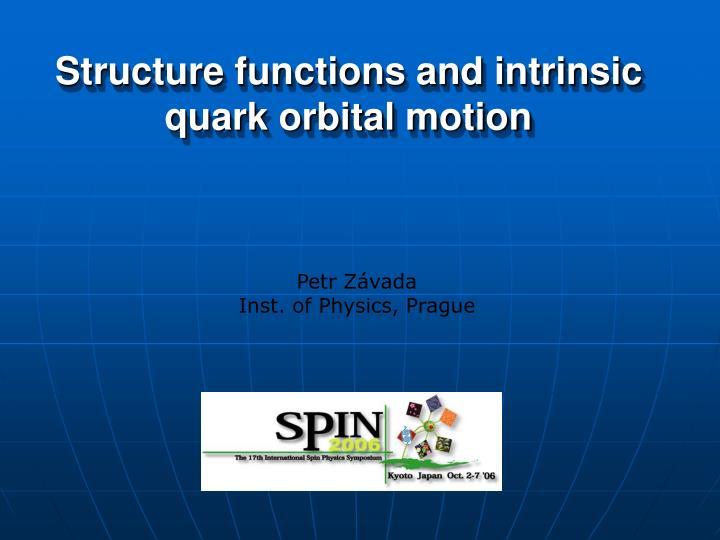 Structure functions and intrinsic quark orbital motion