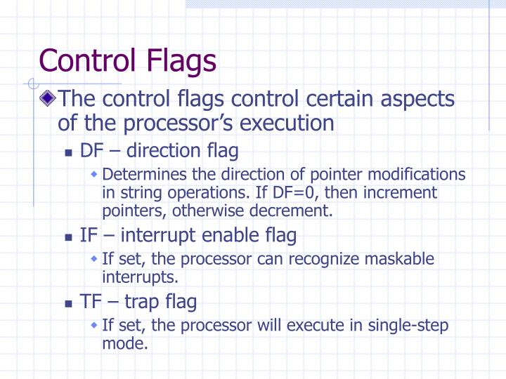 Control Flags