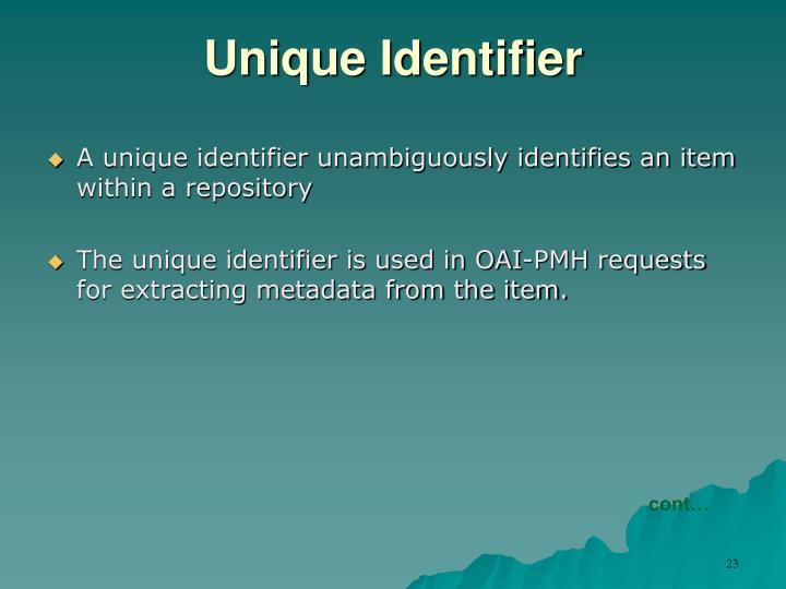 Unique Identifier