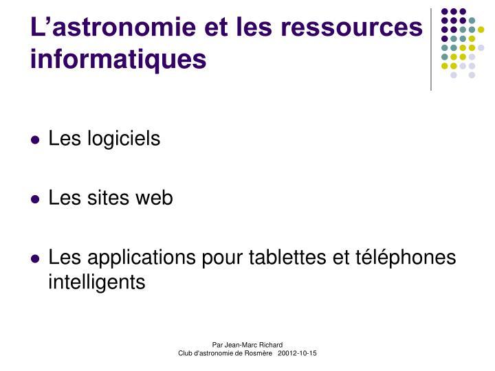 L astronomie et les ressources informatiques2