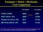 fumigant mulch herbicides cost comparison1
