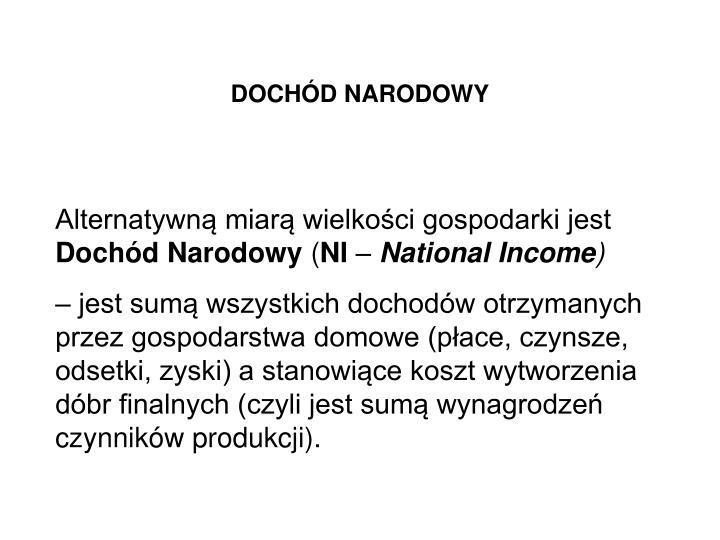 DOCHÓD NARODOWY