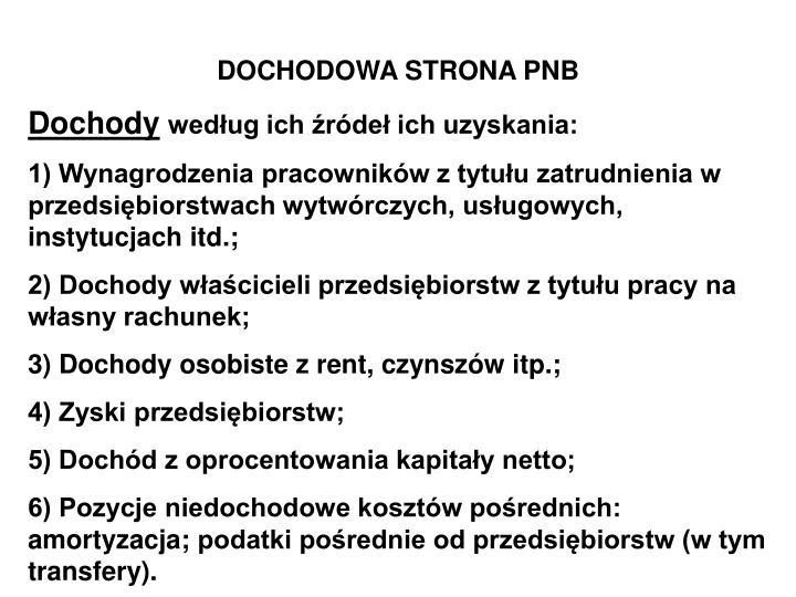 DOCHODOWA STRONA PNB
