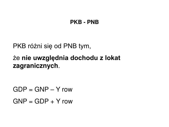 PKB - PNB