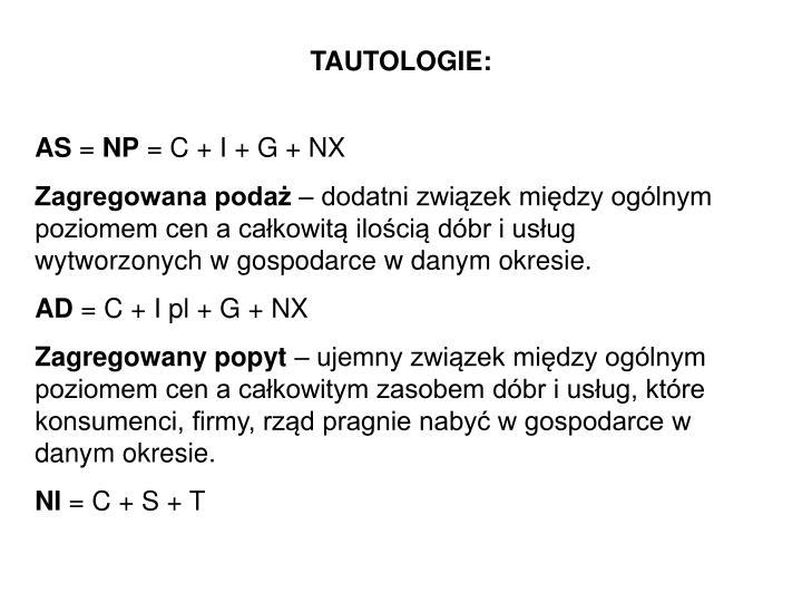 TAUTOLOGIE: