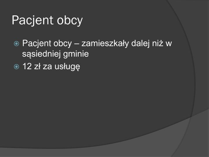 Pacjent obcy