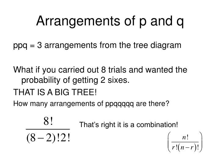 Arrangements of p and q