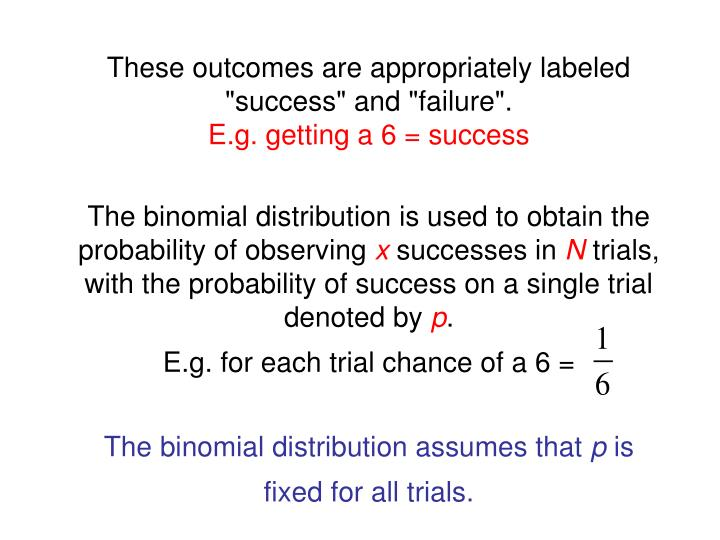 "These outcomes are appropriately labeled ""success"" and ""failure""."