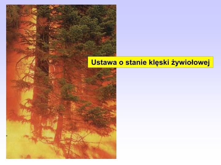 Ustawa o stanie klęski żywiołowej
