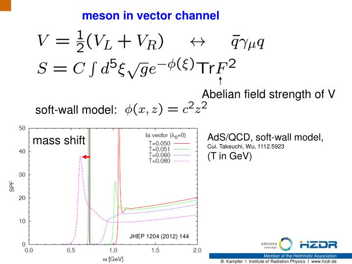 meson in vector channel