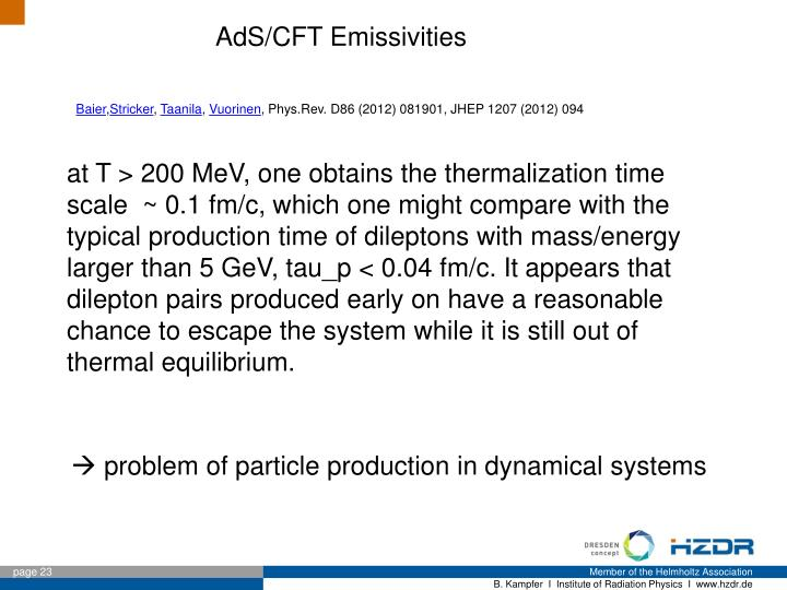 AdS/CFT Emissivities