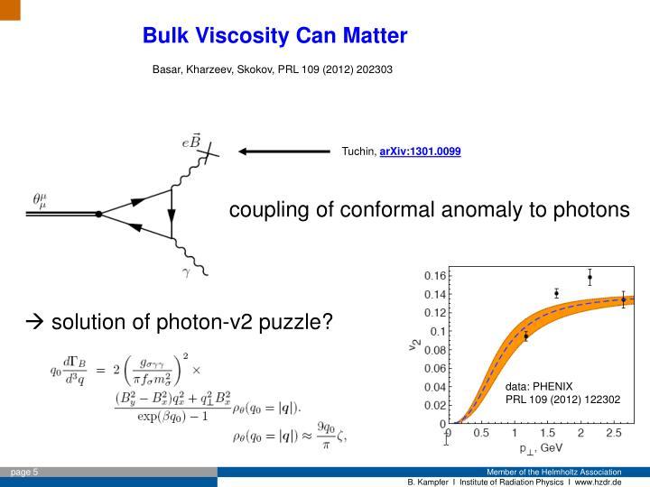 Bulk Viscosity Can Matter