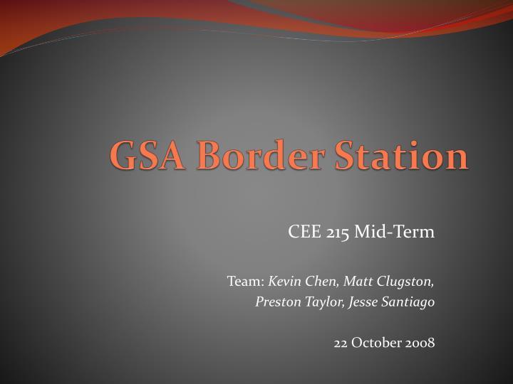 gsa border station n.