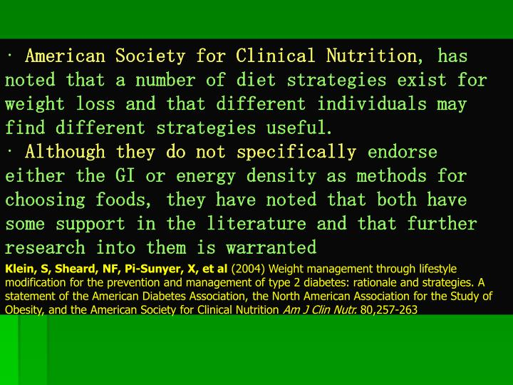 American Society for Clinical Nutrition