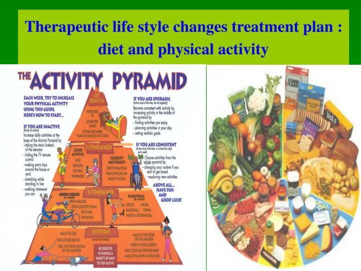 Therapeutic life style changes treatment plan : diet and physical activity