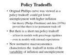 policy tradeoffs