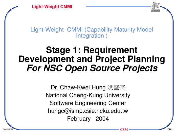 Light-Weight  CMMI (