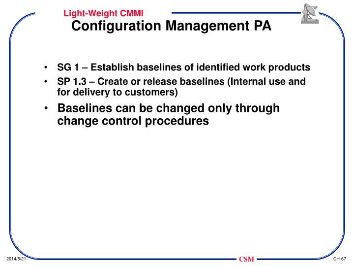 Configuration Management PA