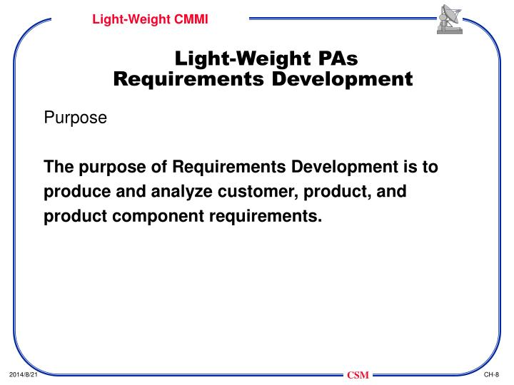 Light-Weight PAs