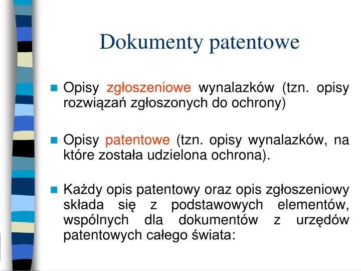 Dokumenty patentowe