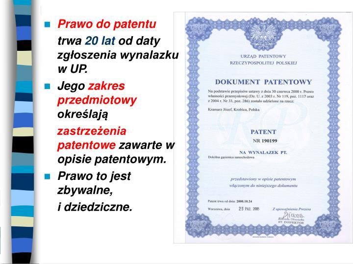 Prawo do patentu