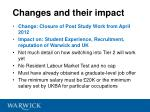 changes and their impact