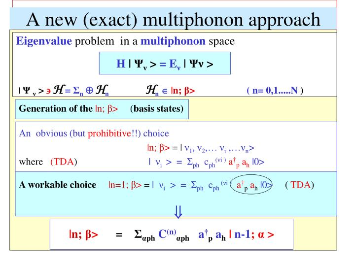 A new (exact) multiphonon approach