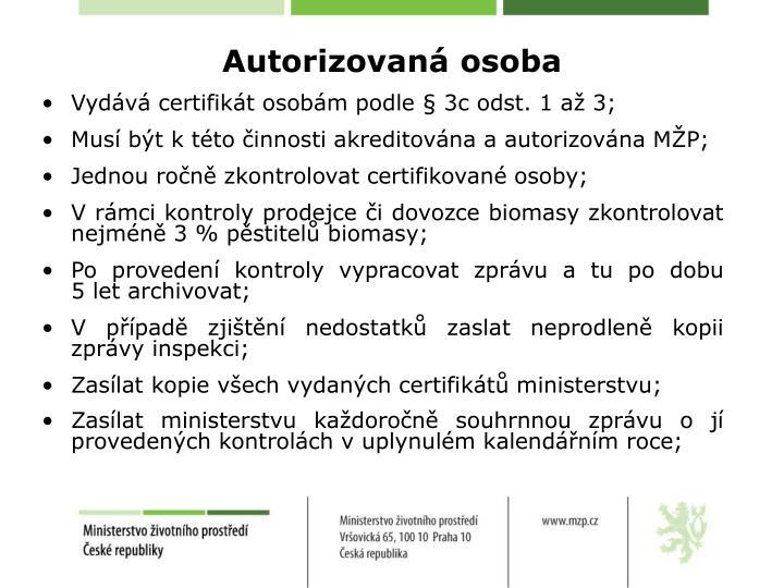 Autorizovaná osoba