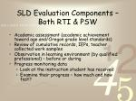 sld evaluation components both rti psw