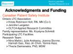acknowledgments and funding