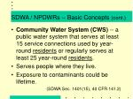 sdwa npdwrs basic concepts cont1