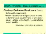 sdwa npdwrs basic concepts cont10