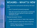 wiasrd what s new