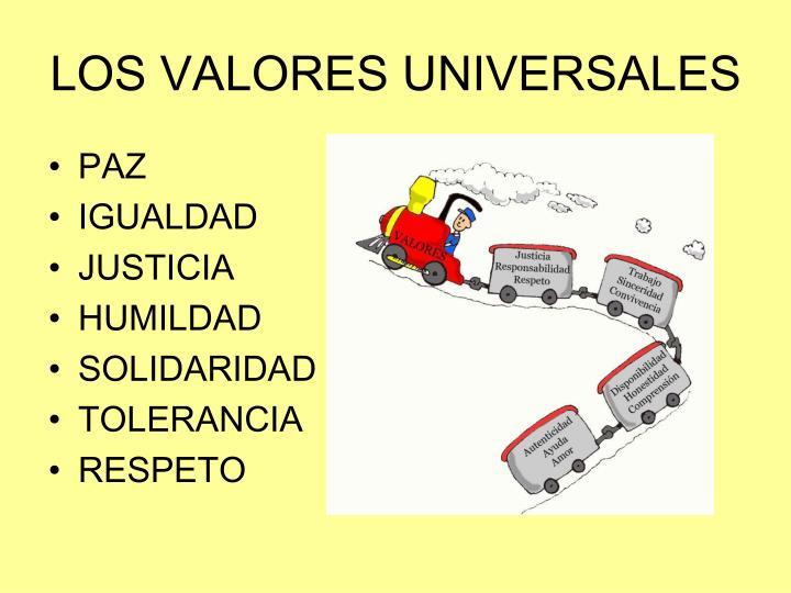 Los valores universales