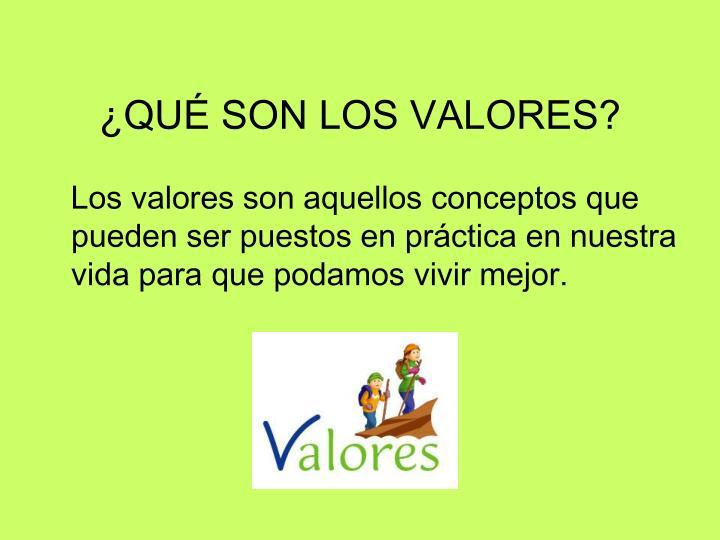 Qu son los valores