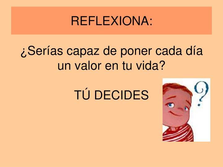 REFLEXIONA: