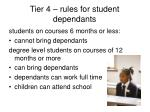 tier 4 rules for student dependants
