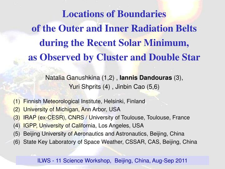 Locations of Boundaries