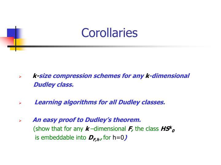Corollaries