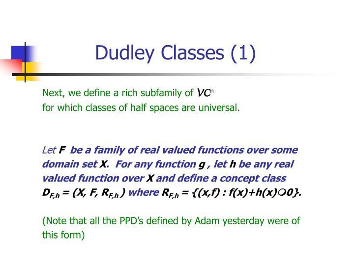 Dudley Classes (1)