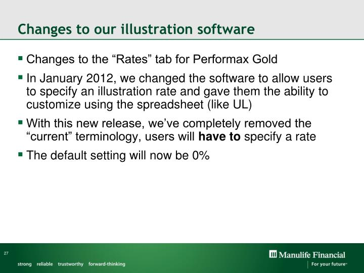 Changes to our illustration software