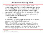 absolute addressing mode