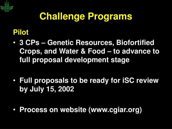 Challenge Programs