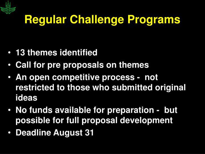Regular Challenge Programs