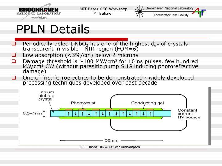 PPLN Details