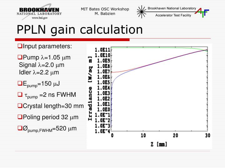 PPLN gain calculation