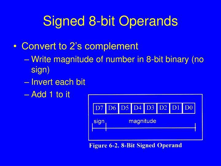 Signed 8-bit Operands